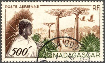 Poste aérienne 1952 Madagascar