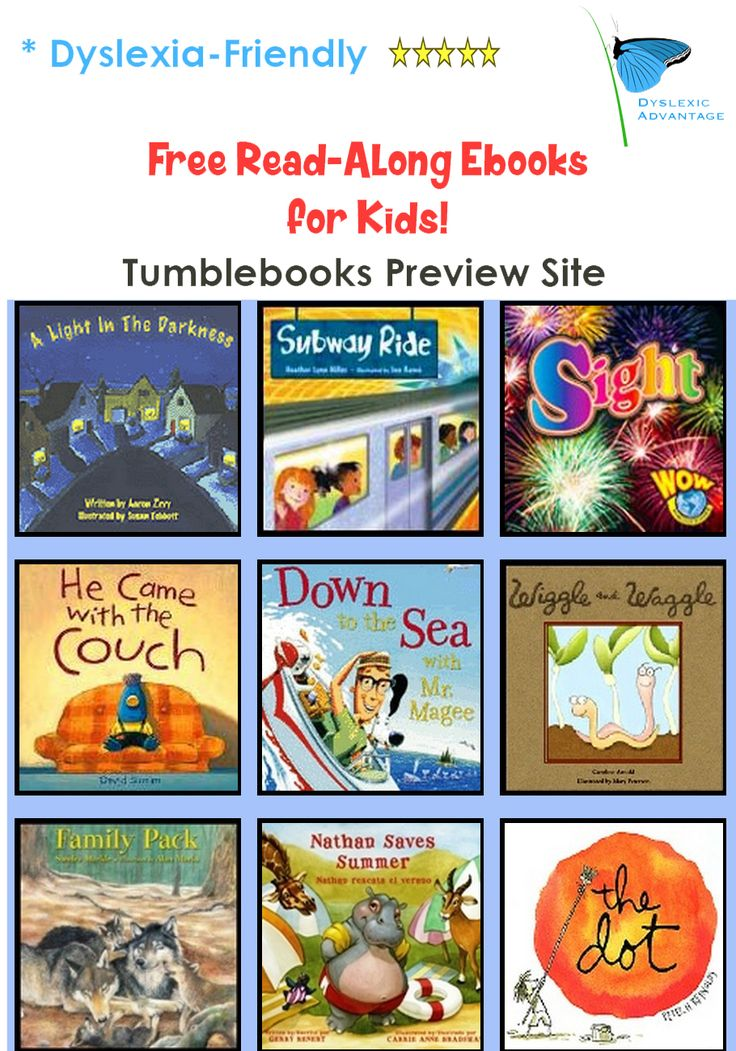 Tumblebooks' Free Preview site (with completely free read-along books) is here: http://preview.tumblebooks.com/Home.aspx You may be able to access the whole library with your public library card too!