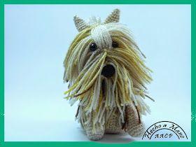 Amigurumi Perrito Yorkie - Patrón Gratis en Español aquí : http://creandomingumiosdeesos.blogspot.com.es/2014/04/mi-perrito-peludo.html