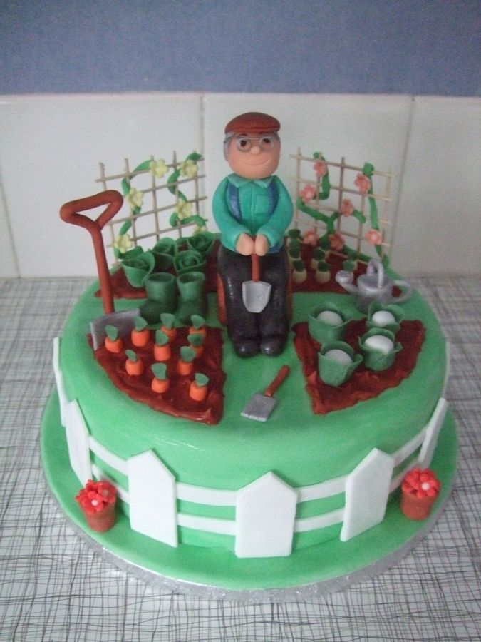 1000 images about syd on pinterest garden cakes garden for Gardening 80th birthday cake