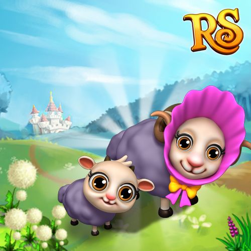 These shy little Herdwick Sheep just wanted to say Good Morning! #royalstorygame #royalanimals #royalzoo