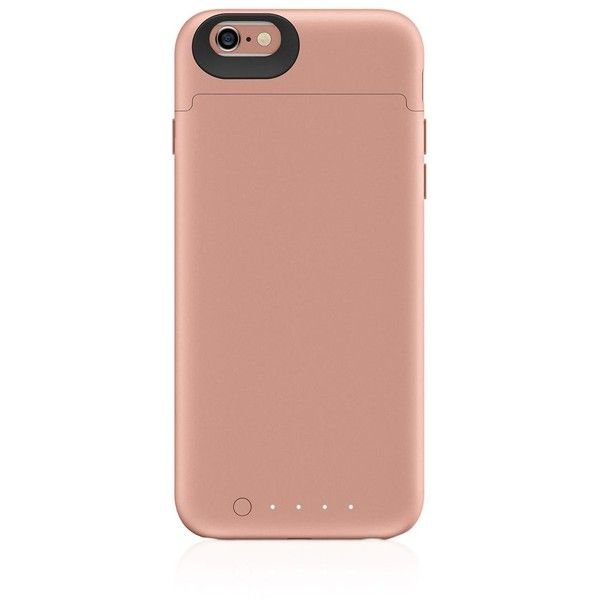 Mophie iPhone 6/6s Juice Pack Reserve Case ($60) ❤ liked on Polyvore featuring men's fashion, men's accessories, men's tech accessories and rose gold