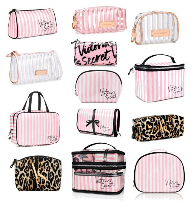 """Victoria's Secret Cosmetic Bags"" by stephanie-rozek-paris ❤ liked on Polyvore…"