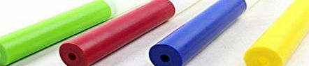 GOGO 4Pcs Plastic Relay Batons Track And Field Equipment - RED GOGO Plastic Relay Baton is made of lightweight ABS. The baton is 12 x 1.28 inches, has smooth rolled edges so that runners cannot cut their hands during hand offs. They are non-slip ground finish in  http://www.comparestoreprices.co.uk/latest2/gogo-4pcs-plastic-relay-batons-track-and-field-equipment--red.asp