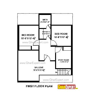 House plan for 28 feet by 35 feet plot plot size 109 for What is a plot plan of a house