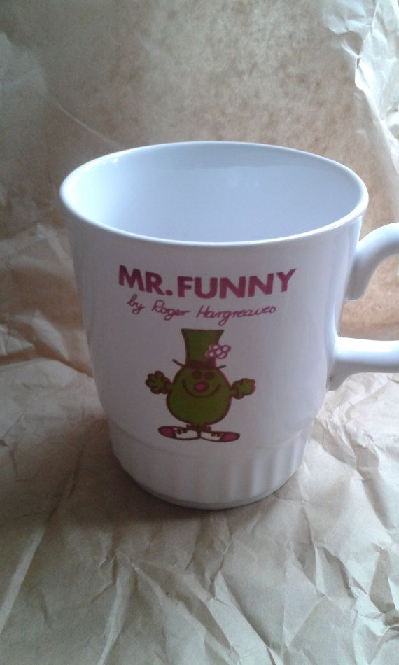 Mr Funny Vintage Mr Men Mug by Roger Hargreaves by Merrimans