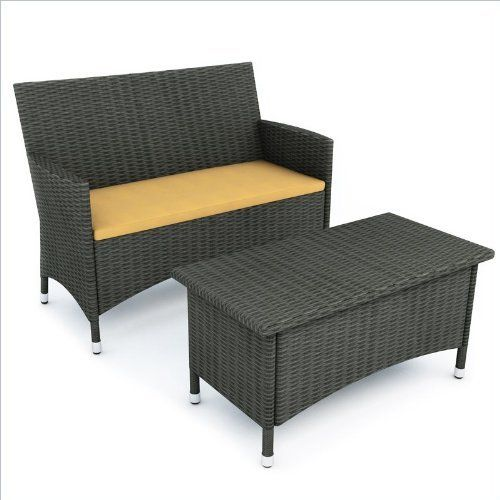 Sonax Cascade Sofa and Coffee Table in River Rock Black Weave by Sonax. $329.00. Heavy Duty Aluminum Alloy frames. Durable and Easy to care for Resin Rattan Wicker in River Rock Black. Accent cushions available in 5 different colors, sold separately. S-104-DCP includes one Bench Seat. Removable Sunset Yellow seat covers over high quality foam cushions for maximum quality and comfort. Get into this summer with the inviting Cascade Sofa. Durable metal frames, UV Resist...