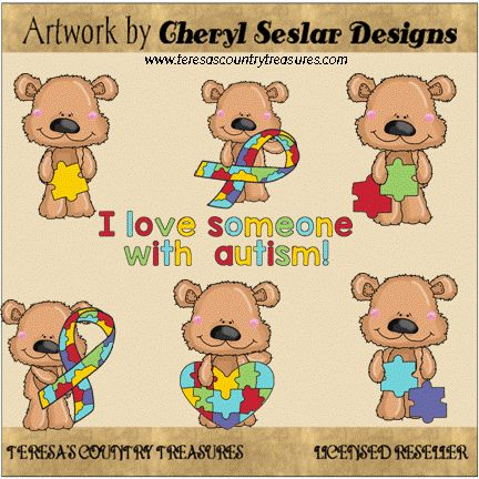 Scruffy #Autism #Bears #Clipart