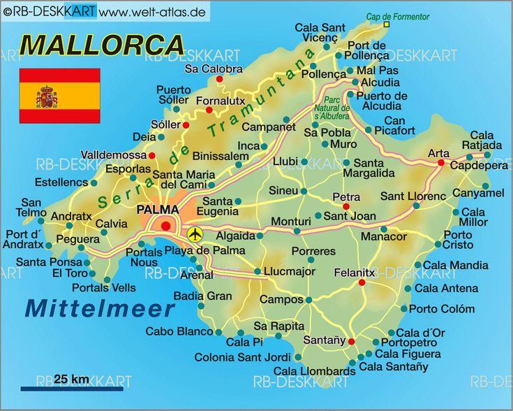 25 best Mallorca karte ideas on Pinterest  Spain destinations