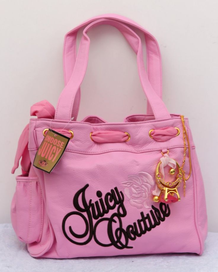 Сумка Juicy Couture из искусственной кожи розовая с внутренними отделениями #18254