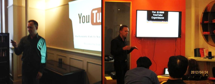 Speaking at a couple of business related meetups in April about YouTube marketing