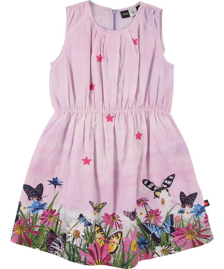 molo dress with embroidery and print