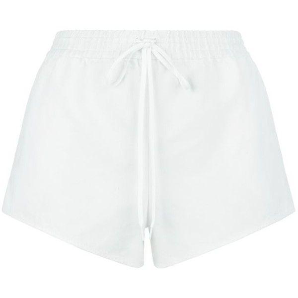 Chloé Linen Drawstring Shorts ($530) ❤ liked on Polyvore featuring shorts, sports shorts, sport shorts, chloe shorts, drawstring shorts and pocket shorts