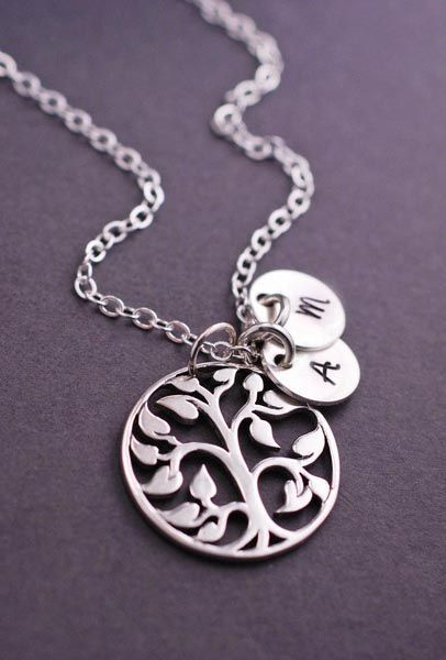 Beautiful Tree of Life necklace. Want with kids initials...very pretty.