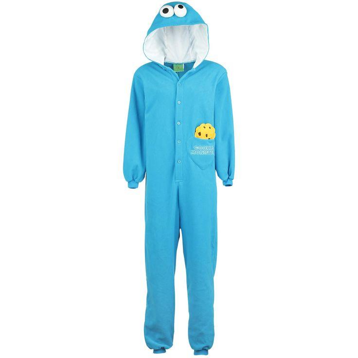 """Sesame Street Overall, Dam """"Cookie Monster"""" blå • Sweden Rock Shop"""