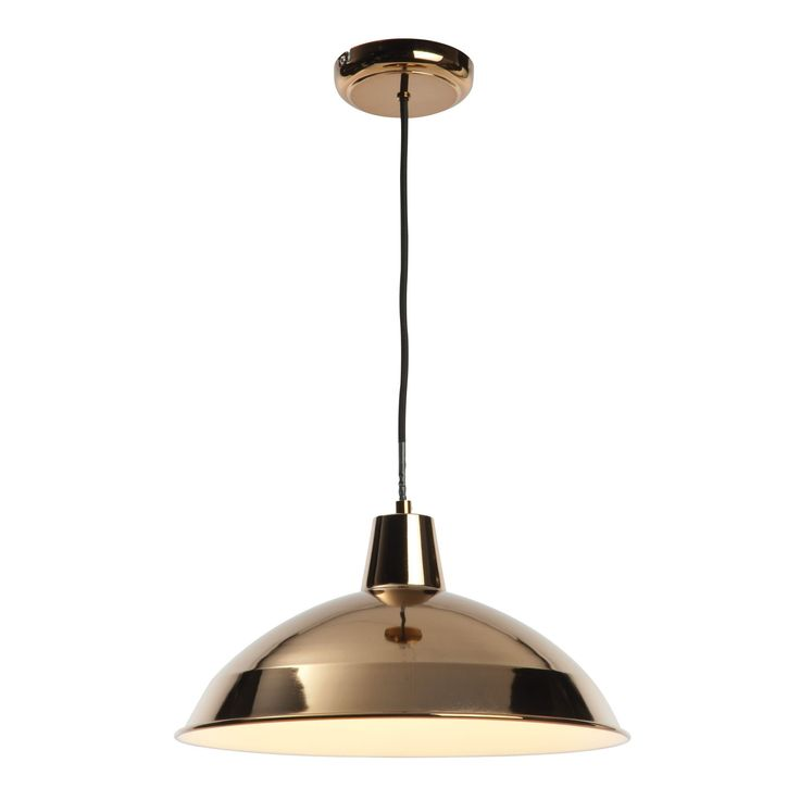 Manison Dome Copper Pendant Ceiling Light | Departments | DIY at B&Q