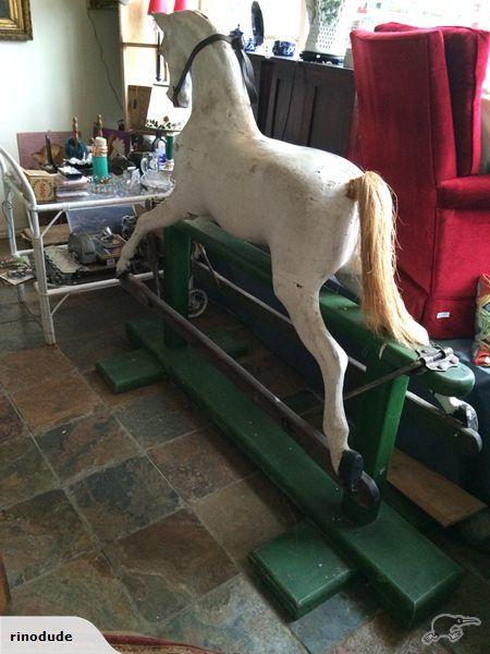 GIGANTIC ANTIQUE ROCKING HORSE   Trade Me