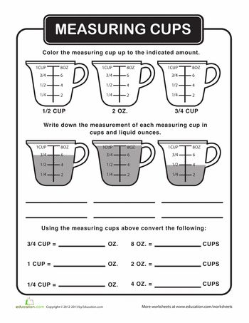 liquid measurement homeschool math measurement worksheets cooking classes for kids cooking. Black Bedroom Furniture Sets. Home Design Ideas