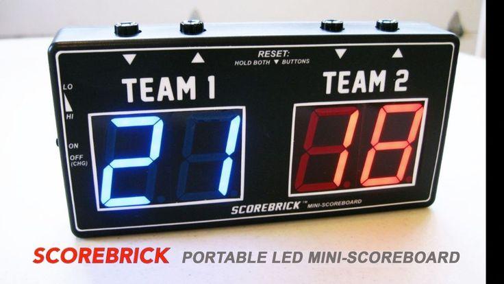 Scorebrick Digital Led Mini Scoreboard For Cornhole Baggo