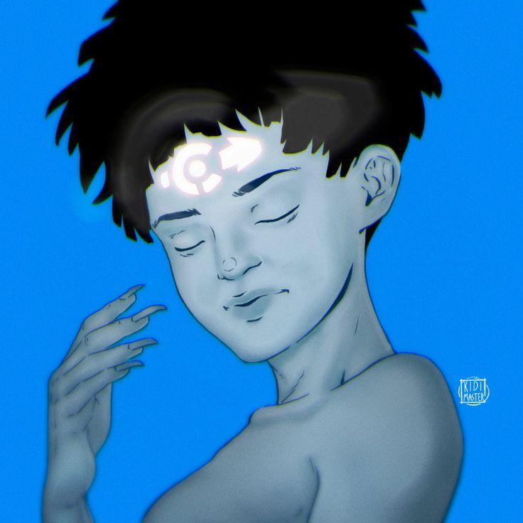 Little Blue Demon by KidiMaster
