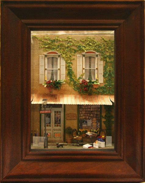 Paris Street Scene Quarter Scale Window Box by Charlotte Atcher