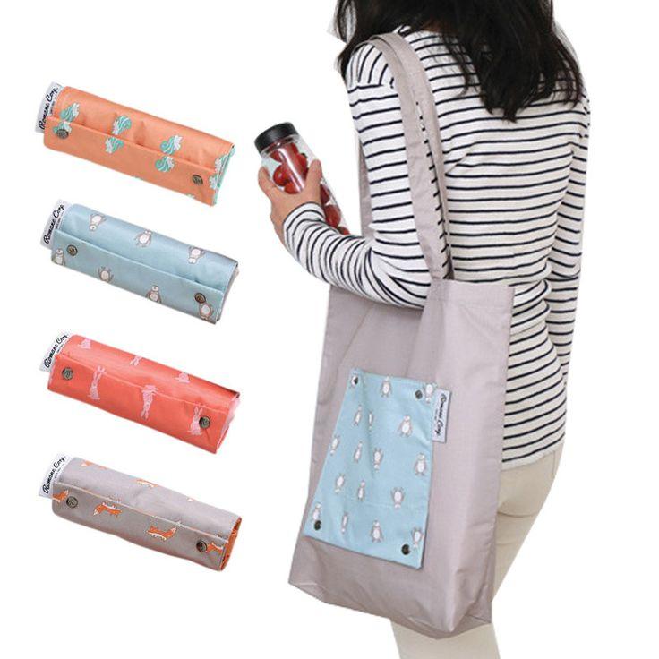 Fashion Travel Bag Candy Color Women Shopping Bags Eco-friendly Reusable Folding Handbag Organizer Beach Bag Wholesale #clothing,#shoes,#jewelry,#women,#men,#hats,#watches,#belts,#fashion,#style