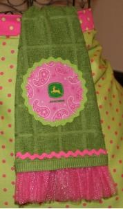 John Deer Kitchen Towels.  Someone needs to DIY this for me for Christmas.