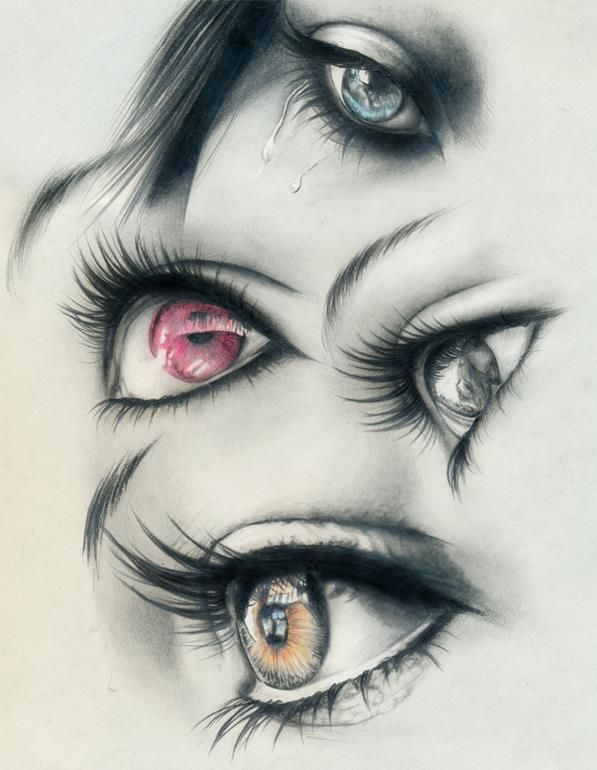 beautiful eyes  wouahh the draftsman is very talented ! ( sorry for my bad english ^^):