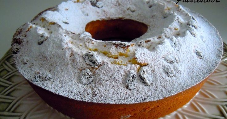 La cucina degli Angeli: Ciambellone al limone verdello di sicilia e uvetta al marsala