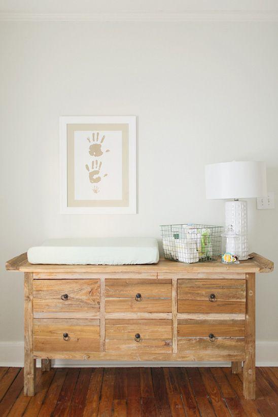 Family handprints in nursery