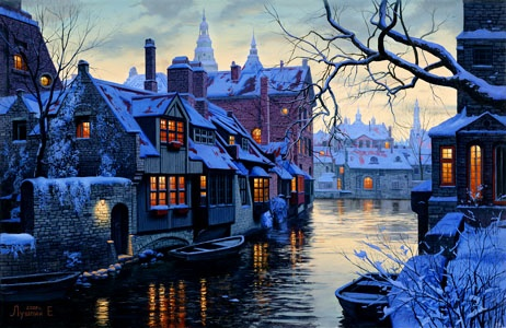 Evgeny Leonidovich Lushpin   Title: Winter in Bruges