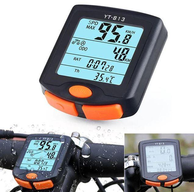 Waterproof Cycling Bike Bicycle Wireless LCD Cycle Computer Odometer Speedometer