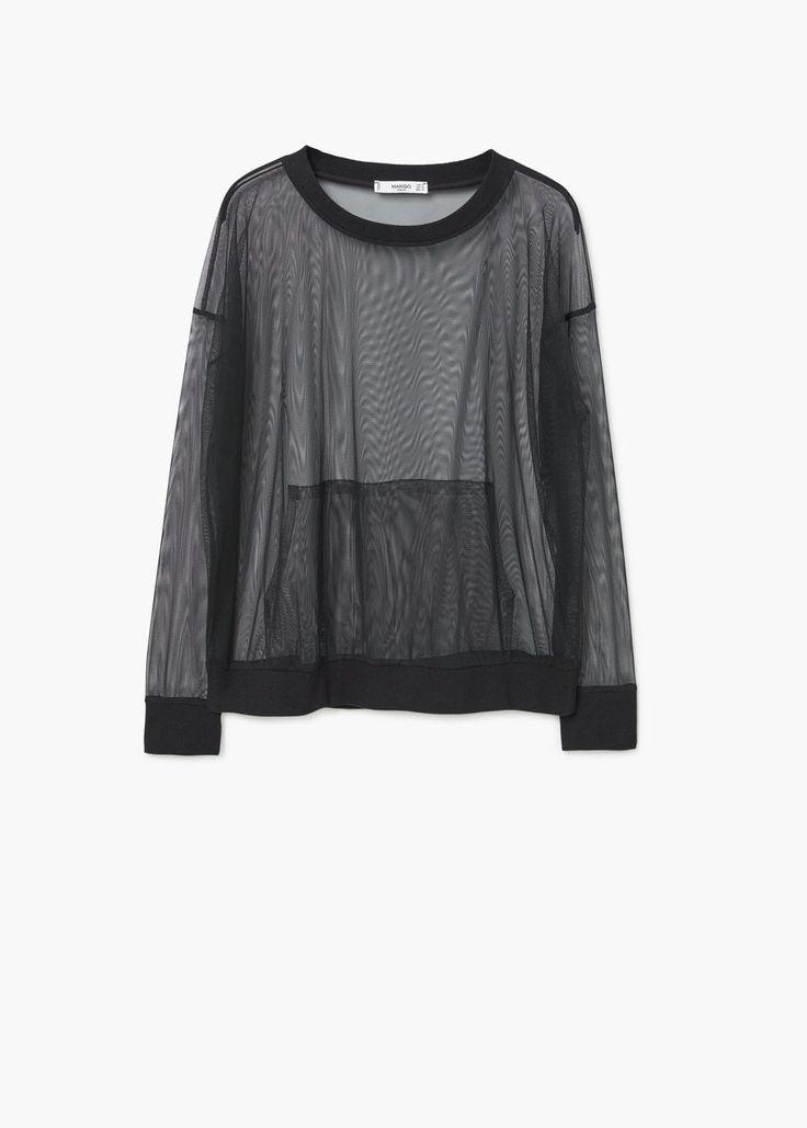Tulle sweatshirt | MANGO