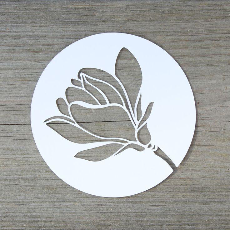Magnolienblute Plotterfreebie Kugelig Com In 2020 Silhouette Cameo Freebies Scherenschnitt Blumen Plotten