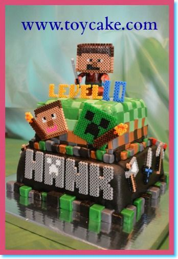 Easy Peasy Minecraft Cake For A Happy Boy Turning 13