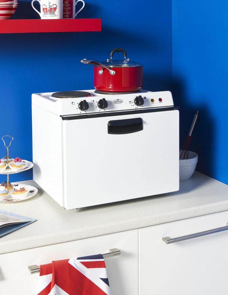 a small range and oven that are not much larger than a microwave. Great for small spaces!