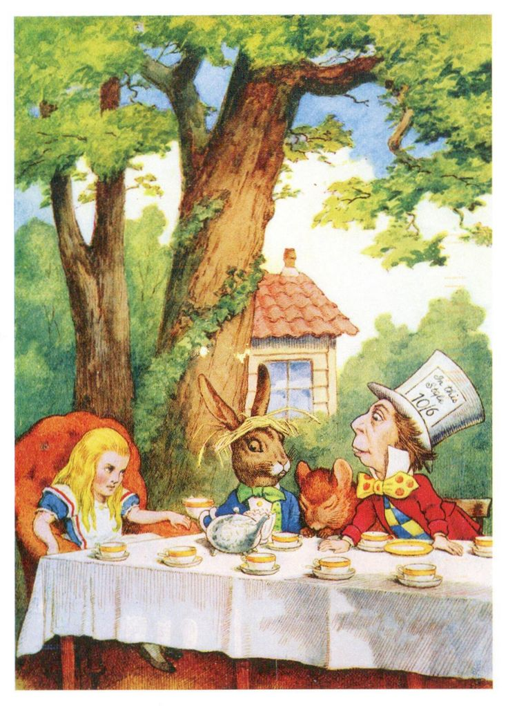 'The Mad Hatter's Tea Party' by John Tenniel from 'Alice's Adventures in Wonderland' (Lewis Carroll)