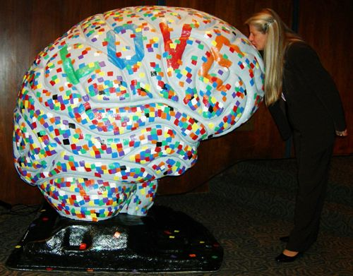 Dr. Jill Bolte Taylor and a really large brain.