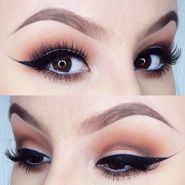 eyebrow contouring. cat eyes i used contour shades in \ eyebrow contouring t