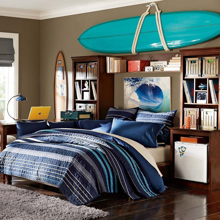 Teenage Boy S Bedroom With Map Mural: 502 Best Images About Boys Room On Pinterest