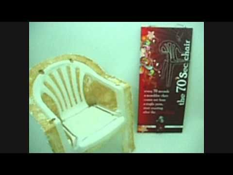 This is not actually a plastic chair, but a plaster cast of the legendary monobloc plastic chair