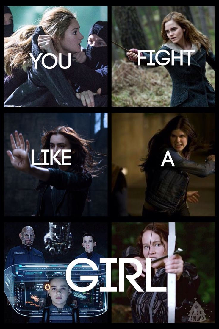 Don't think about it as an insult but as a complement think about tris, katniss and herminoie