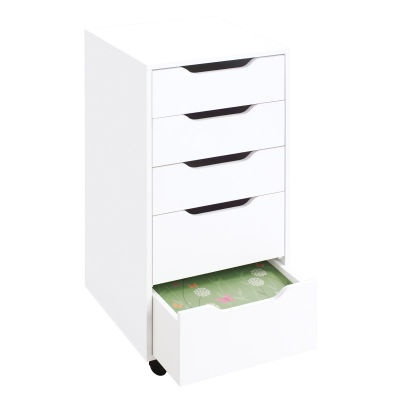 The Recollections Mobile  Drawer Organzier Is The Perfect Storage Solution For A Small Space With  Drawers In The Unit Available In A White Finish