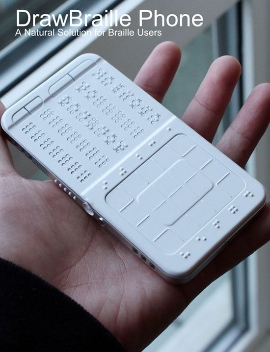 DrawBraille Mobile Phone