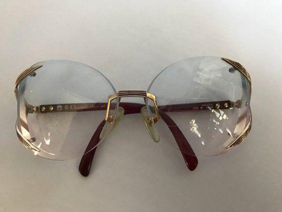 b7e1df95d90 Vintage Christian Dior Rimless Optical Frame Glasses