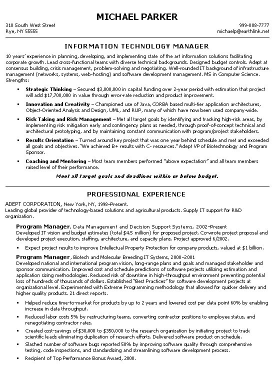 technical manager resume example resume examples resume and software