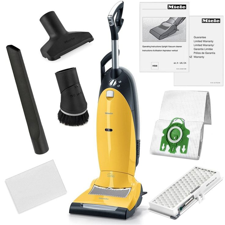 Miele Dynamic U1 Jazz Upright Hepa Vacuum Cleaner + More, Yellow