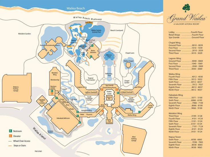 Grand Wailea Resort Map  Maui  Pinterest  Resorts And Maps