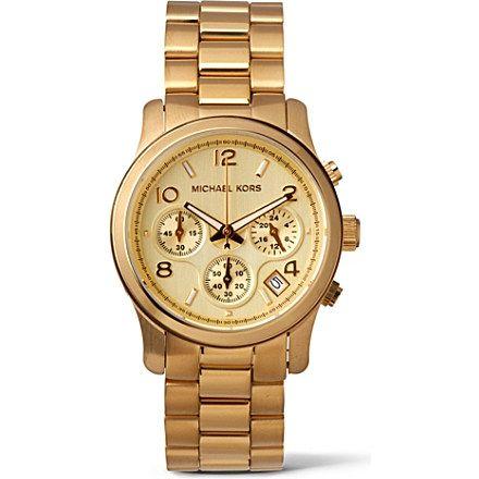 MICHAEL KORS - MK5055 gold-plated chronograph watch | selfridges.com