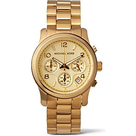 MICHAEL KORS - MK5055 gold-plated chronograph watch | selfridges.com